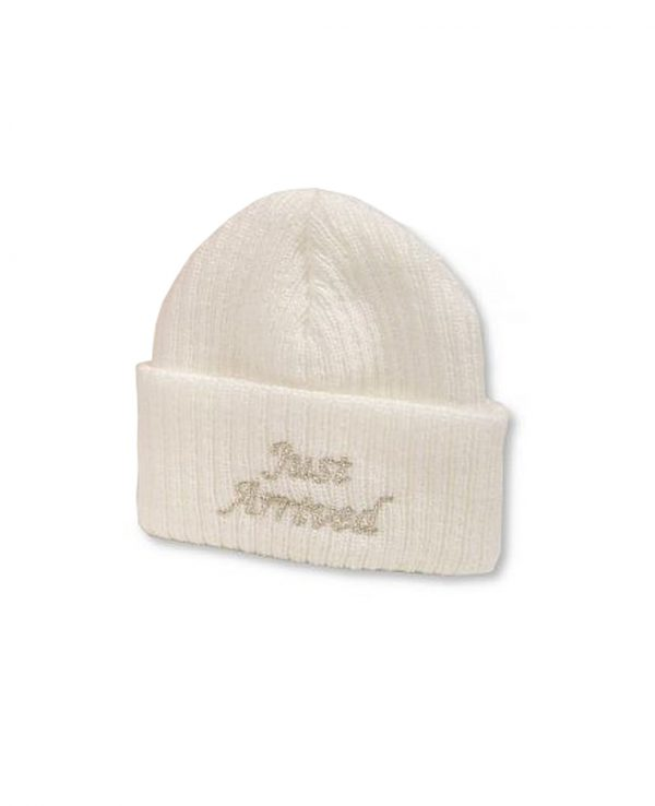Just Arrived White Hat-newborn baby beanie hat, knitted baby hat 2
