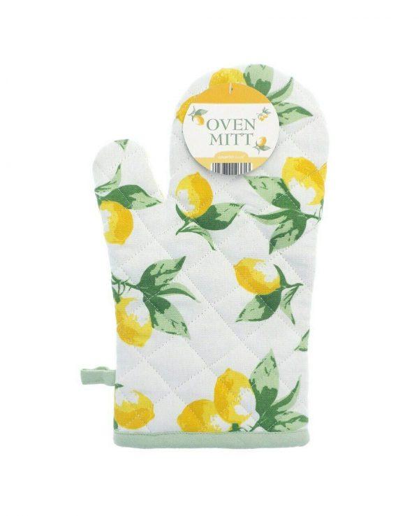 Lemon Oven Mitt Glove - thick cotton oven mitts, best oven gloves