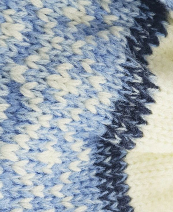 Newborn Knitted Baby Hat and Mitten Set Blue- newborn baby hat and mitten set 1