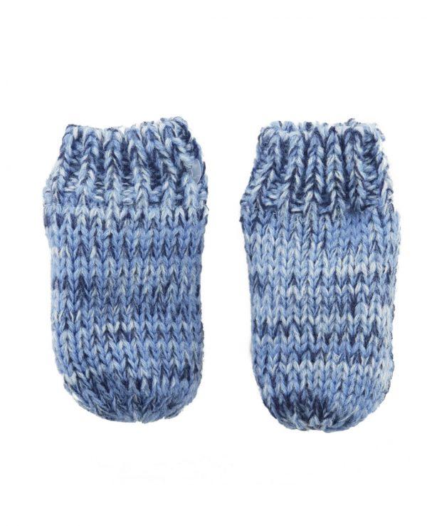 Newborn Knitted Baby Hat and Mitten Set Blue- newborn baby hat and mitten set 2