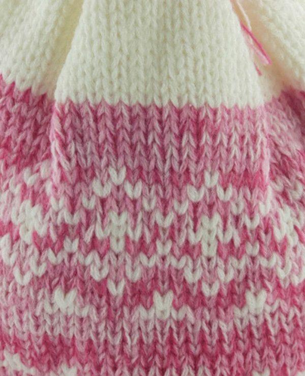 Newborn Knitted Baby Hat and Mitten Set Pink- newborn baby hat and mitten set 3