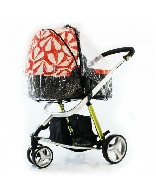 Zipped carrycot and pram raincover-universal buggy hood and raincover, rain cover for pram, mamas and papas iCandy Cassato Cabi