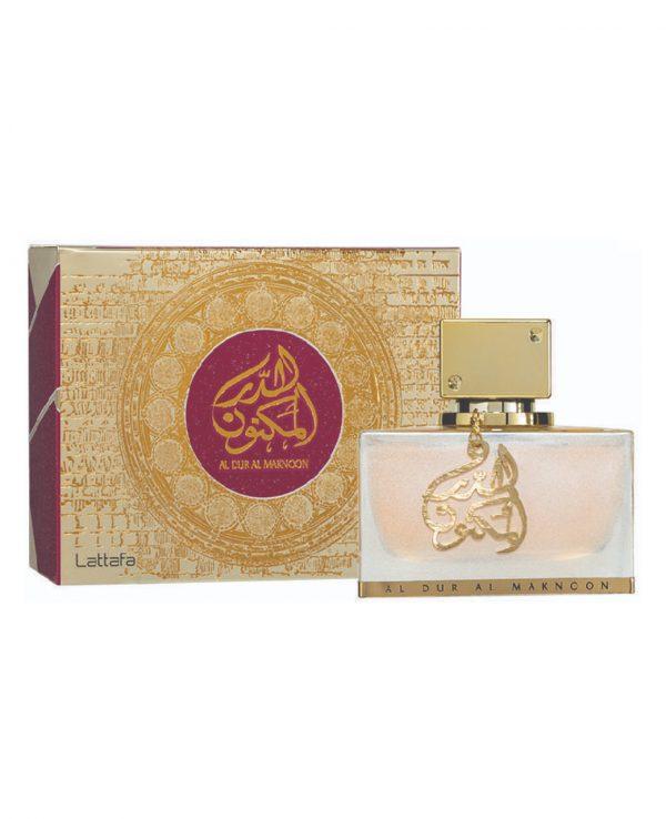 Al Dur Al Maknoon Gold 100ml lattafa perfume -arabian oud perfume, arabic oudh, best arabic perfume for ladies, arabian oud perfume uk, fragrance, best arabian oud fragrance lattafa uk