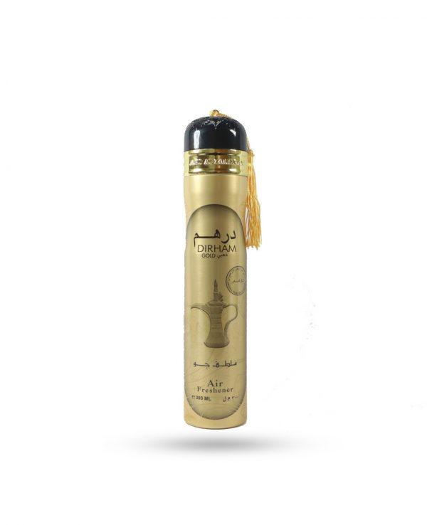 Dirham Gold Air Freshener 300ml By Ard Al Zaafaran for home for room arabic home spray