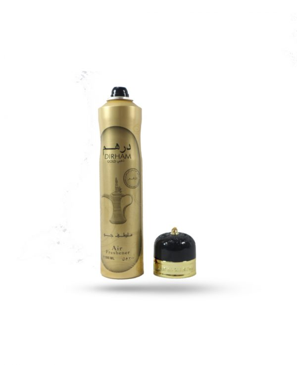 Dirham Gold by Ard Al Zaafaran 300ML Arabic Arabian Air Freshener Fragrance Home Spray Vanilla Woody