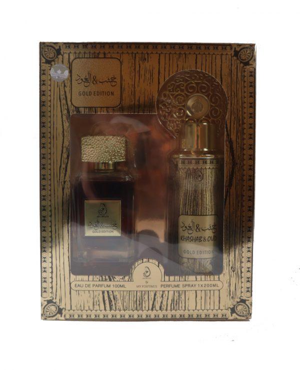 Khashab & Oud Gold Edition Perfume Spray Deodorant 100ml gift Set My perfumes for women for men arabic perfume perfume spray perfume bottle