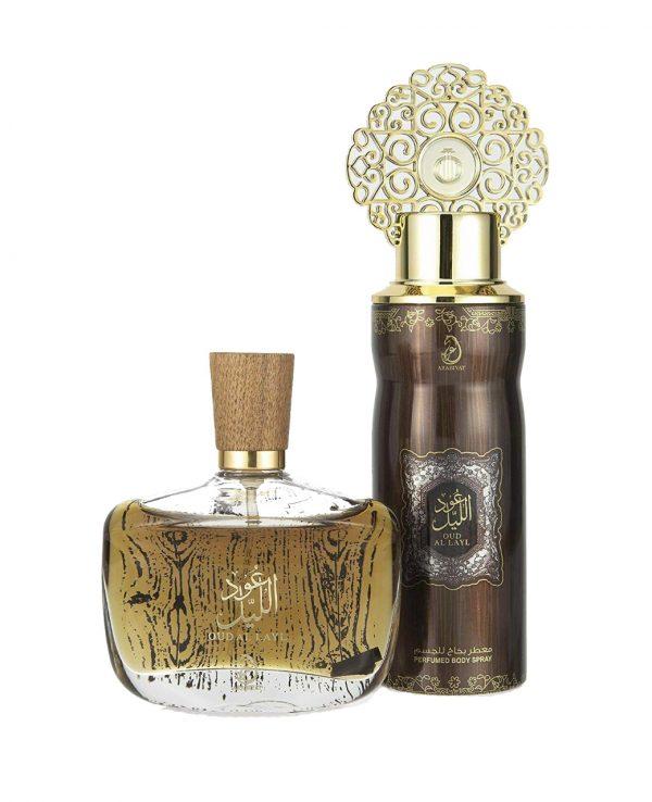 Oud Al Layl Arabian Perfume Spray Deodorant gift Set My perfumes Arabic fragrance 100ml women men unisex Oud fresh Floral Sweet Soft Amber Musk Scent