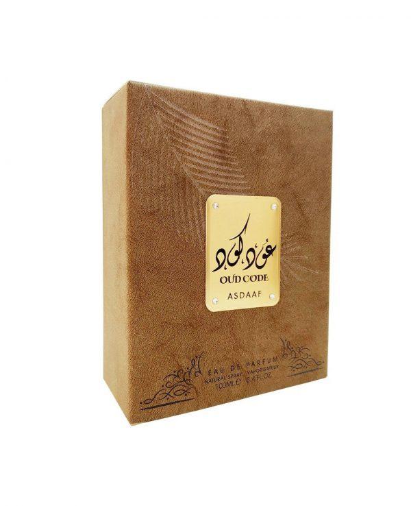 Asdaaf Oud Code by Lattafa Perfume Fragrance 100ml Arabic Arabian Natural Spray Unisex Women Men Scent Vanilla Musky