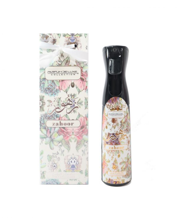 zahoor by my perfumes 300ml air freshener spray for home for room arabic home spray air fresh