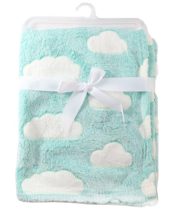 baby blanket grey clouds pattern soft blanket for baby for babies blanket