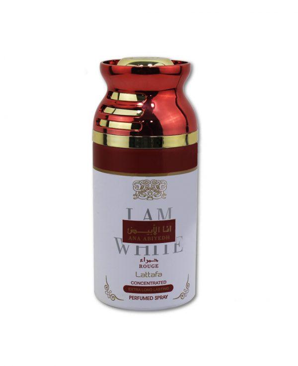 Lattafa Ana Abiyedh Rouge 250ml perfume deodorant deo spray- arabian oud body spray