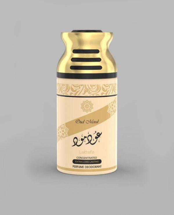 Lattafa Oud Mood 250ml perfume deodorant deo spray- arabian oud body spray