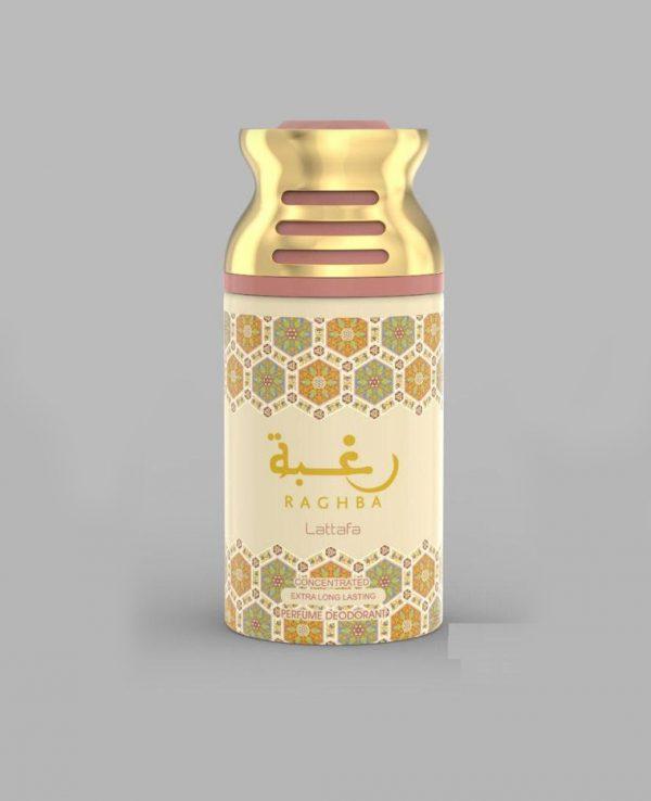 Lattafa Raghba 250ml perfume deodorant deo spray- arabian oud body spray