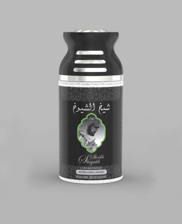 Lattafa Sheikh Shuyukh 250ml perfume deodorant deo spray- arabian oud body spray